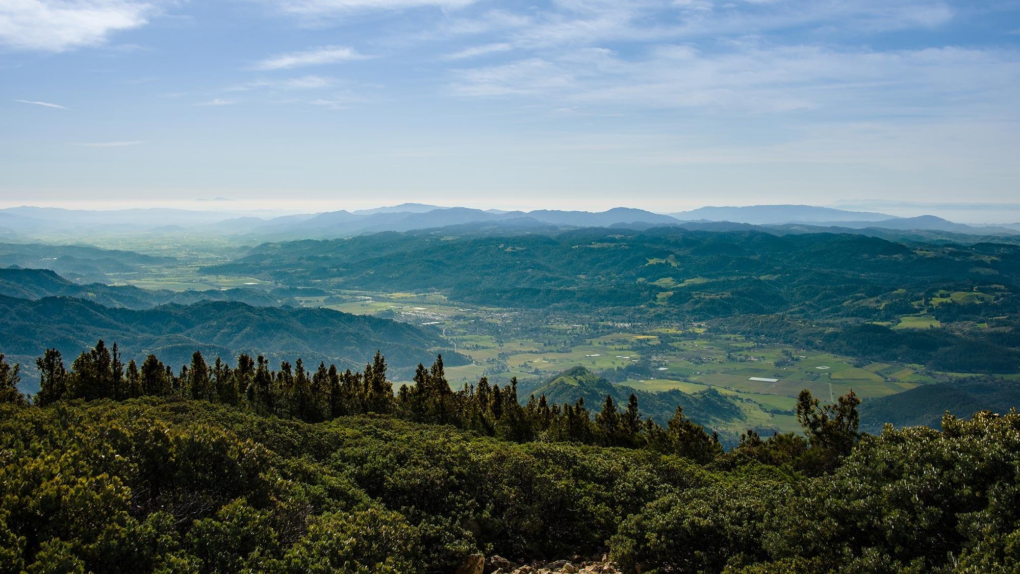 Napa Valley mountain view