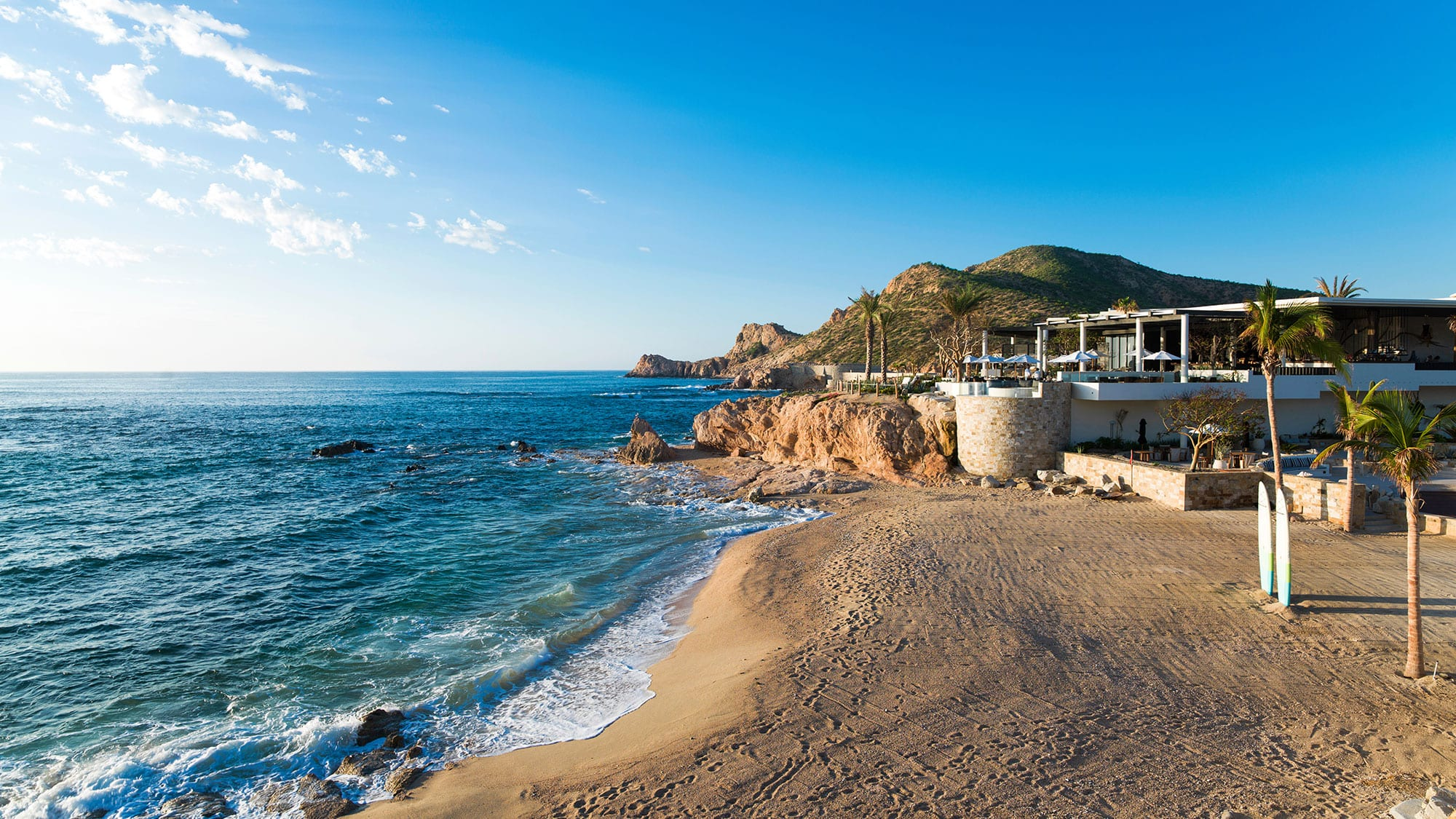 resort view on the beach