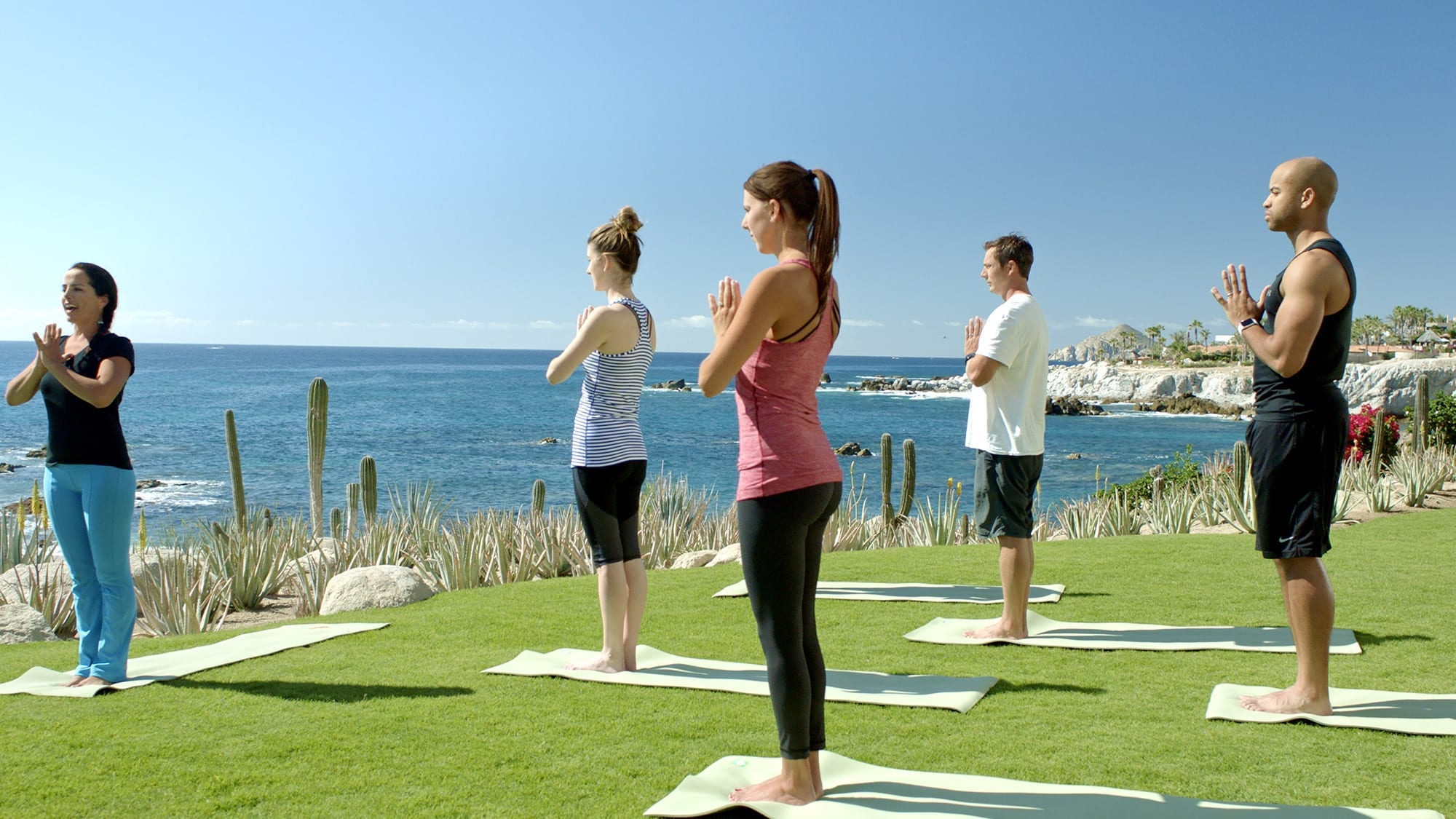 People at yoga class