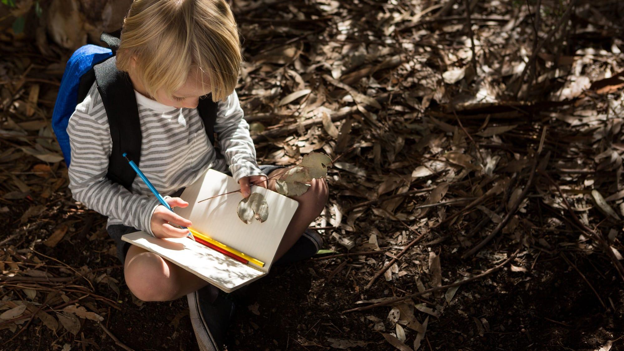 kid journaling